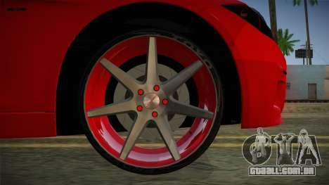 BMW 335i para GTA San Andreas traseira esquerda vista