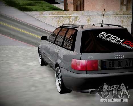 Audi 80 B4 Antes da PROIBIÇÃO.RF para GTA San Andreas esquerda vista