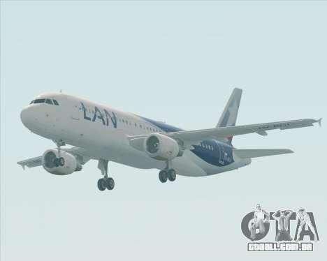 Airbus A320-200 LAN Argentina para GTA San Andreas vista interior