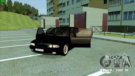 BMW 730i para GTA San Andreas vista inferior