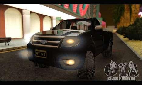 Ford Ranger Cabina Simple 2013 para GTA San Andreas vista direita