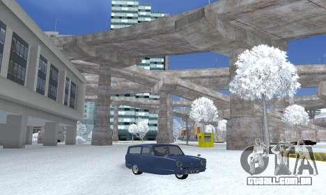 Reliant Supervan III para GTA San Andreas traseira esquerda vista