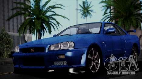 Nissan Skyline GT-R V Spec II 2002 para GTA San Andreas
