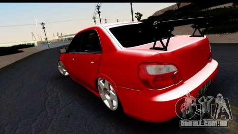 Subaru Impreza para GTA San Andreas esquerda vista