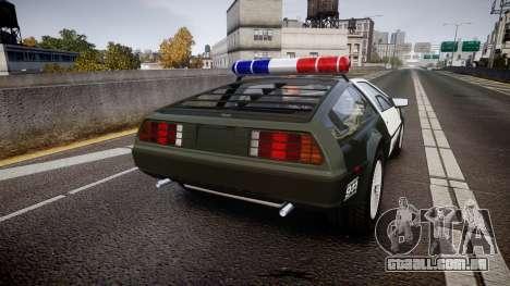 DeLorean DMC-12 [Final] Police para GTA 4 traseira esquerda vista