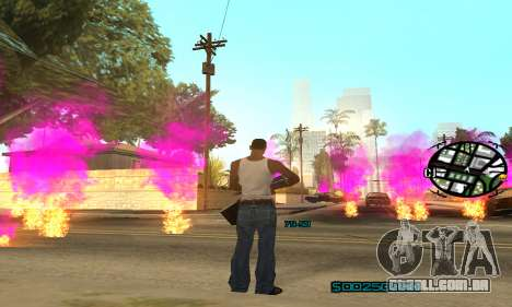 New Pink Effects para GTA San Andreas quinto tela
