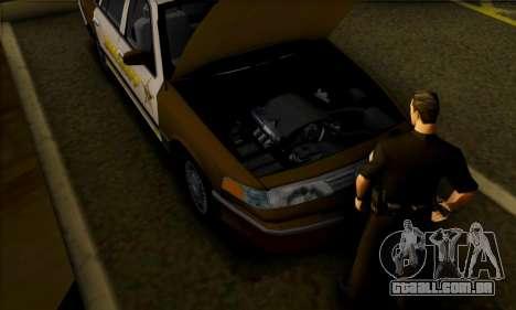 Ford Crown Victoria 1994 Sheriff para GTA San Andreas vista traseira