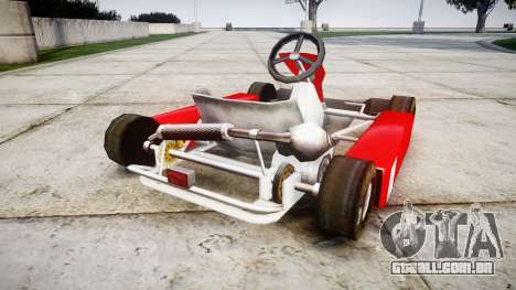 Go Kart para GTA 4 traseira esquerda vista