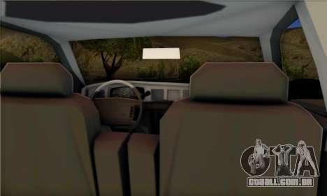 Ford Crown Victoria NYPD  Mazarine para GTA San Andreas esquerda vista