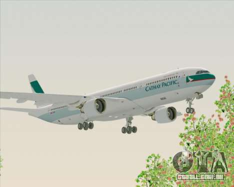 Airbus A330-300 Cathay Pacific para GTA San Andreas vista interior
