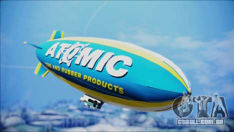 Blimp Atomic para GTA San Andreas traseira esquerda vista