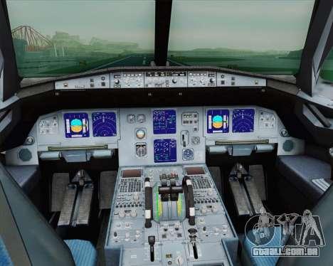 Airbus A321-200 French Government para GTA San Andreas vista interior