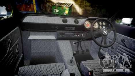 Ford Escort RS1600 PJ48 para GTA 4 vista interior