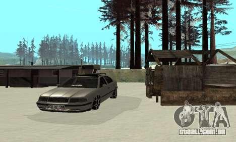 Skoda Octavia Winter Mode para GTA San Andreas vista superior