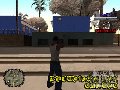 C-HUD Bomj Gang para GTA San Andreas por diante tela