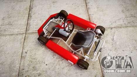 Go Kart para GTA 4 vista direita