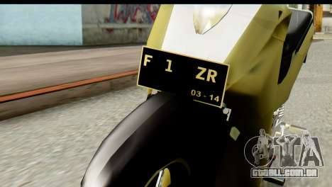 Yamaha F1ZR Stock para GTA San Andreas vista traseira