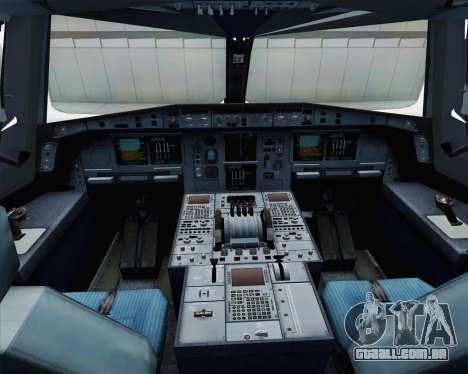 Airbus A380-800 F-WWDD Etihad Titles para GTA San Andreas vista interior