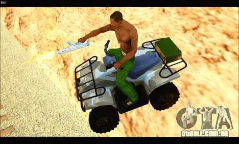 ATV Army Edition v.3 para GTA San Andreas vista direita