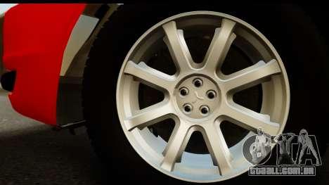 Mitsubishi Lancer X Stock para GTA San Andreas vista direita