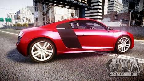 Audi R8 E-Tron 2014 para GTA 4 esquerda vista