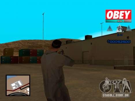 C-HUD Obey para GTA San Andreas terceira tela