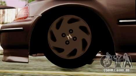 Honda Civic 1.6 para GTA San Andreas traseira esquerda vista