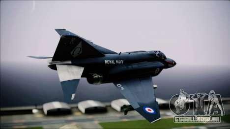 F4 Royal Air Force para GTA San Andreas esquerda vista