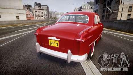 Ford Custom Tudor 1949 para GTA 4 traseira esquerda vista