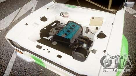 Ford Escort RS1600 PJ48 para GTA 4 vista de volta