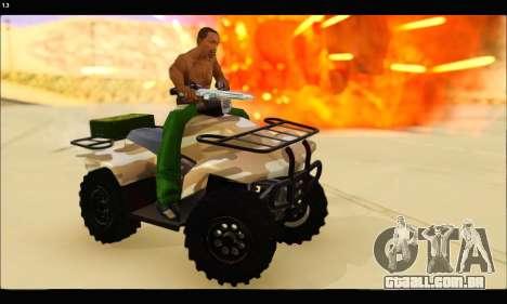 ATV Army Edition v.3 para GTA San Andreas vista traseira