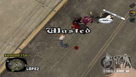 C-HUD Sigara para GTA San Andreas terceira tela