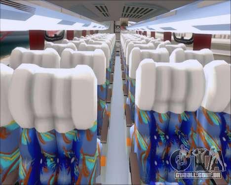 Busscar Vissta Buss LO Pullman Sur para GTA San Andreas vista interior