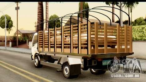 Toyota Dyna Truck Hog Dealer para GTA San Andreas esquerda vista