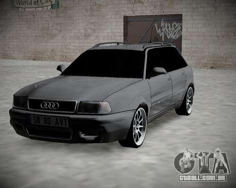 Audi 80 B4 Antes da PROIBIÇÃO.RF para GTA San Andreas vista traseira