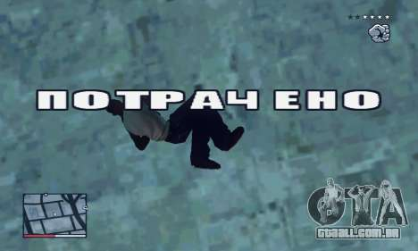 C-HUD GTA 4 with Map para GTA San Andreas sexta tela