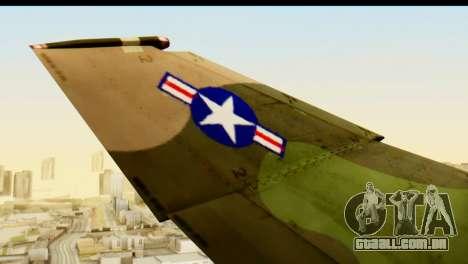 F-4 Vietnam War Camo para GTA San Andreas vista traseira