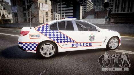 Holden VF Commodore SS Queensland Police [ELS] para GTA 4 esquerda vista