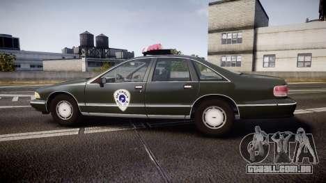 Chevrolet Caprice 1993 Detroit Police para GTA 4 esquerda vista