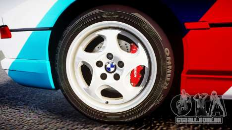BMW E31 850CSi 1995 [EPM] Castrol White para GTA 4 vista de volta