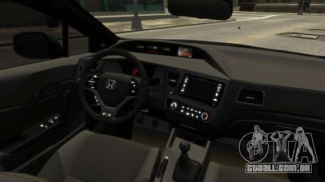 Honda Civic Si 2013 v1.0 para GTA 4 vista de volta