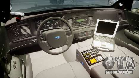 Ford Crown Victoria 2011 LASD [ELS] para GTA 4 vista de volta