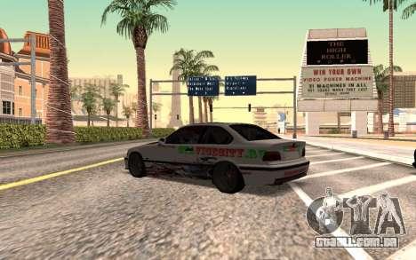 BMW M3 E36 VCDT para GTA San Andreas esquerda vista