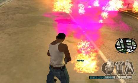 New Pink Effects para GTA San Andreas sexta tela