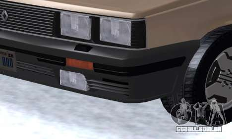 Renault 11 Turbo Phase I 1984 para GTA San Andreas