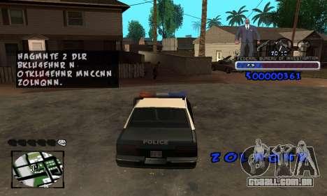 FBI C-HUD para GTA San Andreas por diante tela