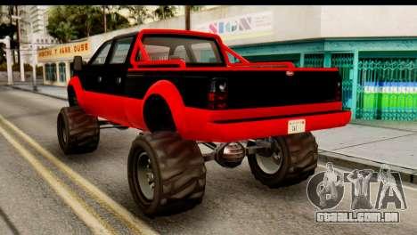 GTA 5 Vapid Sandking XL para GTA San Andreas esquerda vista