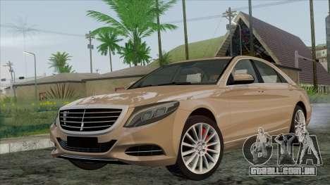 Mercedes-Benz S350 W222 2014 para GTA San Andreas