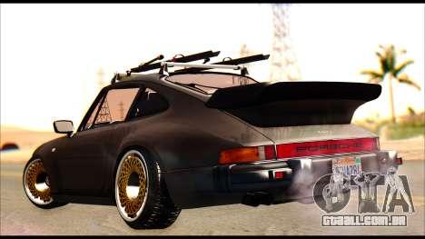 Porsche 911 1980 Winter Release para GTA San Andreas esquerda vista