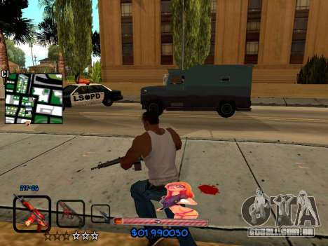 C-HUD by HudMud para GTA San Andreas por diante tela